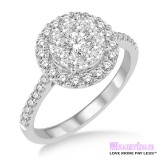 Diamond Engagement Ring LM-1113-WG 1/2 Carat