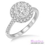 Diamond Engagement Ring LM-1114-WG 3/4 Carat