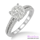 Diamond Engagement Ring LM-1116-WG 3/4 Carat