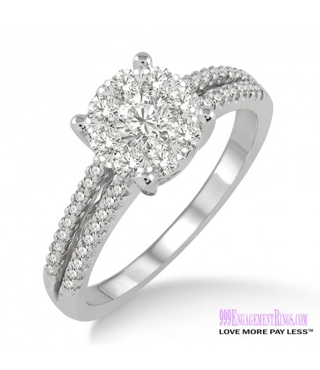 Diamond Engagement Ring LM-1116-WG 3/4 Carat