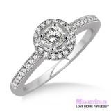 Diamond Engagement Ring LM-1132-WG 1/2 Carat