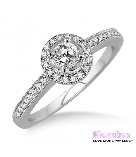 Diamond Engagement Ring LM-1132-WG 1/2 Carat