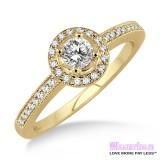 Diamond Engagement Ring LM-1132-YG 1/2 Carat
