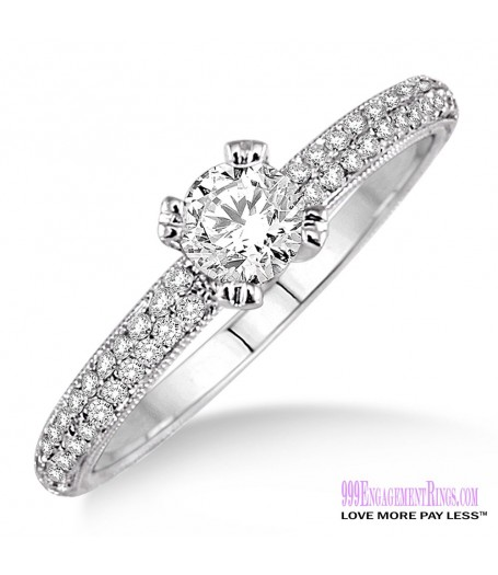 Diamond Engagement Ring LM-1133-WG 1/2 Carat