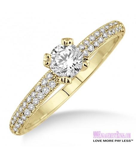 Diamond Engagement Ring LM-1133-YG 1/2 Carat