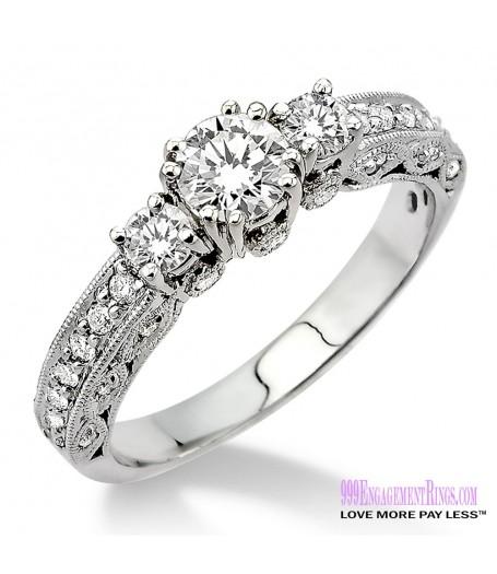 Diamond Engagement Ring LM-1135-WG 7/8 Carat