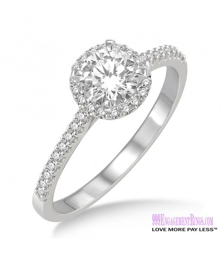 Diamond Engagement Ring LM-1139-WG 1/2 Carat