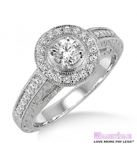 Diamond Engagement Ring LM-1140-WG 5/8 Carat