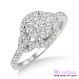 Diamond Engagement Ring LM-1100-WG 5/8 Carat