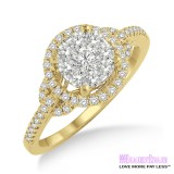 Diamond Engagement Ring LM-1100-YG 5/8 Carat