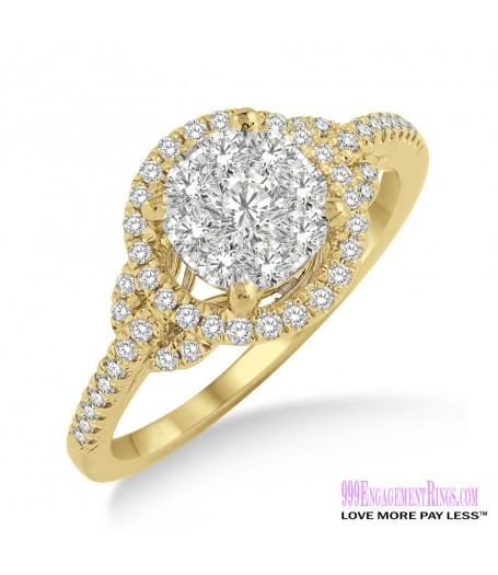 Diamond Engagement Ring LM-1100-YG 5/8 Carat