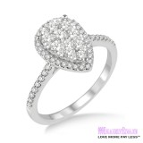 Diamond Engagement Ring LM-1101-WG 1/2 Carat