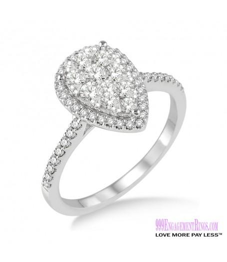 Diamond Engagement Ring LM-1101-WG 1/2 Carat