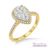 Diamond Engagement Ring  LM-1101-YG 1/2 Carat