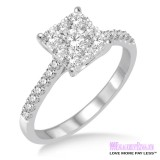 Diamond Engagement Ring LM-1102-WG 3/4 Carat