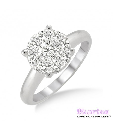 Diamond Engagement Ring LM-1103-WG 3/4 Carat