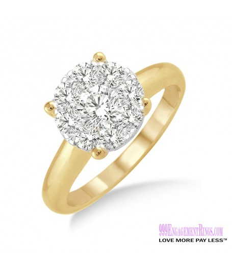 Diamond Engagement Ring LM-1103-YG 3/4 Carat
