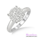 Diamond Engagement Ring LM-1104-WG 1/2 Carat