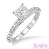 Diamond Engagement Ring LM-1105-WG 1/2 Carat