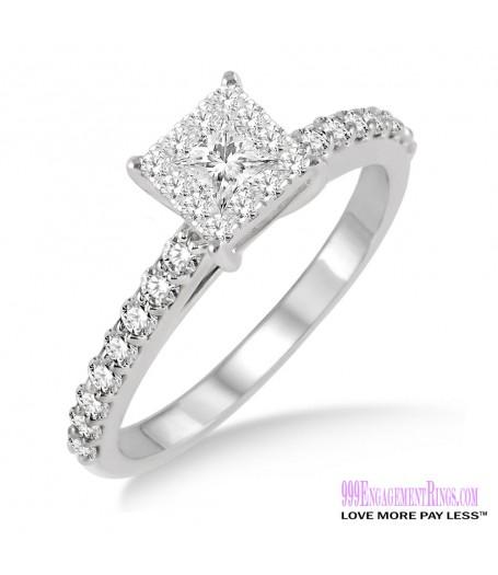 Diamond Engagement Ring LM-1105-WG 1/2 Carat