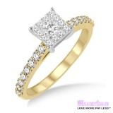 Diamond Engagement Ring LM-1105-YG 1/2 Carat