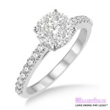 Diamond Engagement Ring LM-1106-WG 1/2 Carat