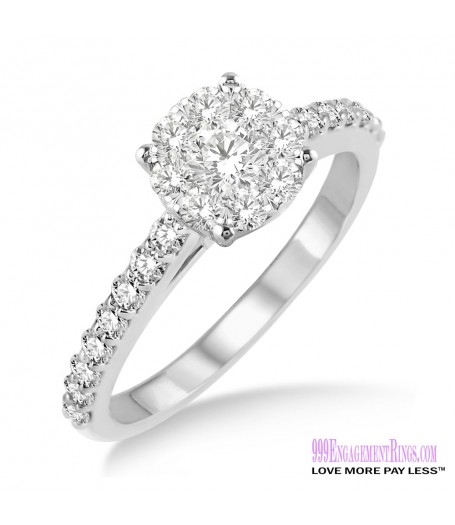 Diamond Engagement Ring LM-1106-WG 1/2 Carat