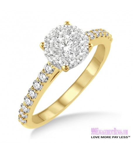 Diamond Engagement Ring LM-1106-YG 1/2 Carat