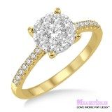 Diamond Engagement Ring LM-1107-YG 5/8 Carat