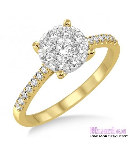 Diamond Engagement Ring LM-1107-YG 5/8 Carat