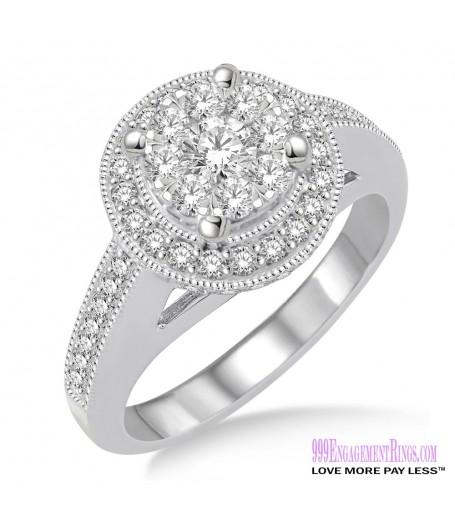 Diamond Engagement Ring LM-1108-WG 1 Carat