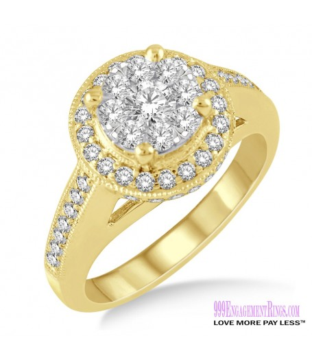 Diamond Engagement Ring LM-1108-YG 1 Carat