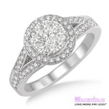 Diamond Engagement Ring LM-1109-WG 5/8 Carat