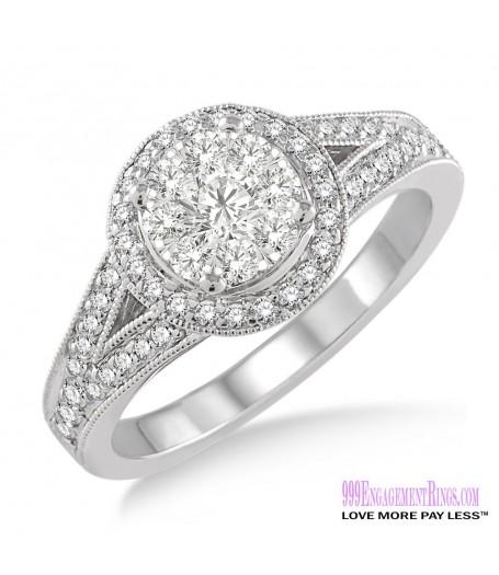 Diamond Engagement Ring LM-1109-WG 5/8 Carat