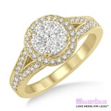Diamond Engagement Ring LM-1109-YG 5/8 Carat