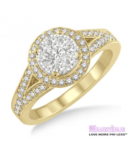 Diamond Engagement Ring LM-1109-YG 5/8 Carat