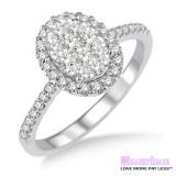 Diamond Engagement Ring LM-1110-WG 3/4 Carat