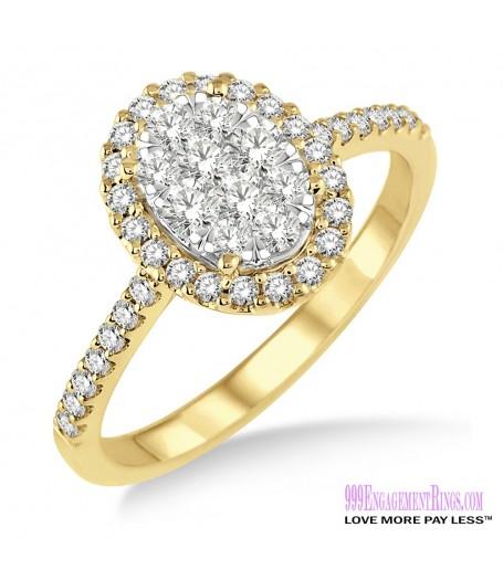 Diamond Engagement Ring LM-1110-YG 3/4 Carat