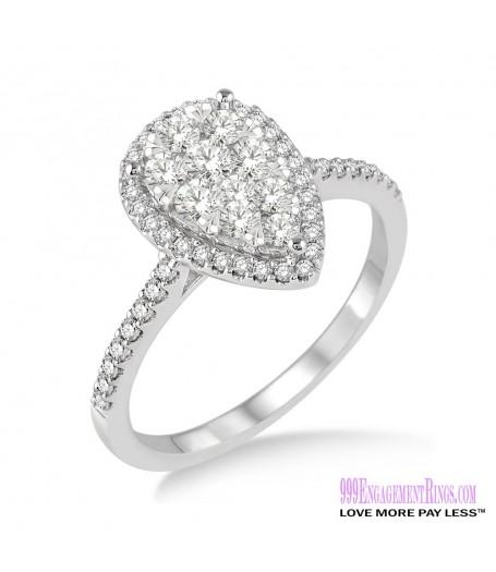 Diamond Engagement Ring LM-1111-WG 3/4 Carat