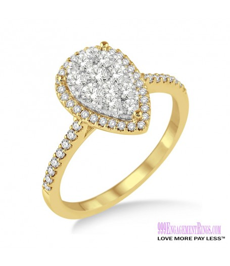 Diamond Engagement Ring LM-1111-YG 3/4 Carat