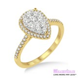 Diamond Engagement Ring LM-1112-YG 1 Carat