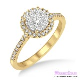 Diamond Engagement Ring LM-1113-YG 1/2 Carat