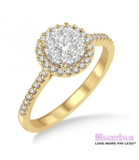 Diamond Engagement Ring LM-1113-YG 1/2 Carat