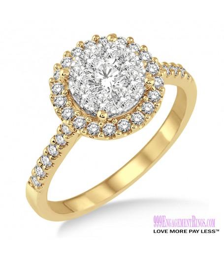 Diamond Engagement Ring LM-1114-YG 3/4 Carat