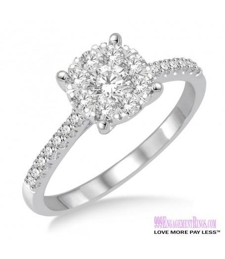 Diamond Engagement Ring LM-1115-WG 3/4 Carat