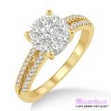 Diamond Engagement Ring LM-1116-YG 3/4 Carat