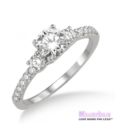 Diamond Engagement Ring LM-1117-WG 3/4 Carat