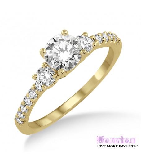 Diamond Engagement Ring LM-1117-YG 3/4 Carat