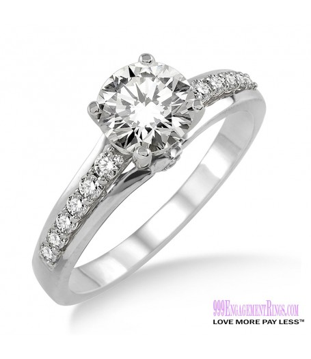 Diamond Engagement Ring LM-1118-WG 5/8 Carat