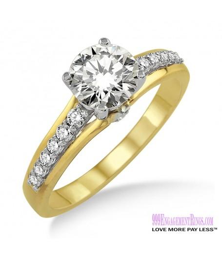Diamond Engagement Ring LM-1118-YG 5/8 Carat